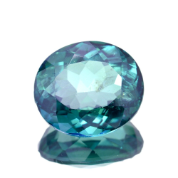 11.50ct Green Topaz Oval Cut