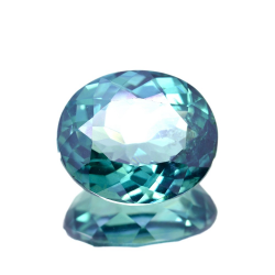 11.89ct Green Topaz Oval Cut