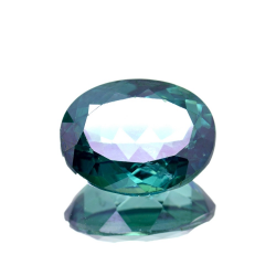 12.95ct Green Topaz Oval Cut
