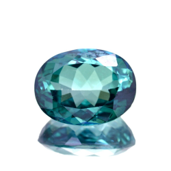 14.00ct Green Topaz Oval Cut