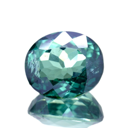 12.34ct Green Topaz Oval Cut