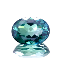 11.55ct Green Topaz Oval Cut