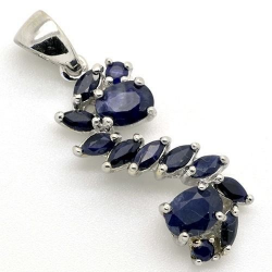 Pendant - Silver 925 - Blue...