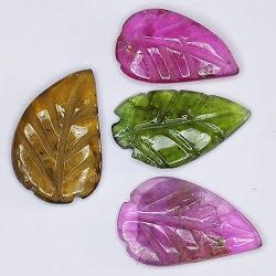 2,64ct Set Tourmaline Leaf...