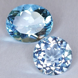 8,96ct Set Blue Topaz Oval...