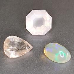5,09ct Set Opal, Quartz &...